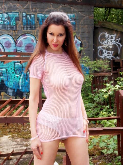PINK LONG CROCHET-STRING EFFECT TOP-DAVE-1 (copy)