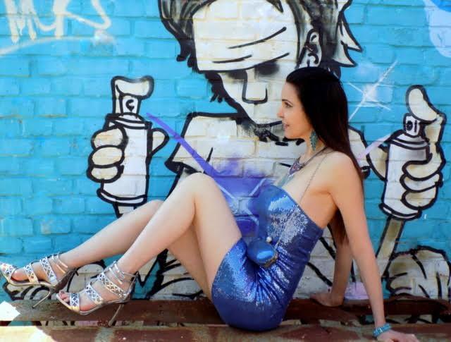 VIVID BLUE SEQUIN DRESS-DAVE-2